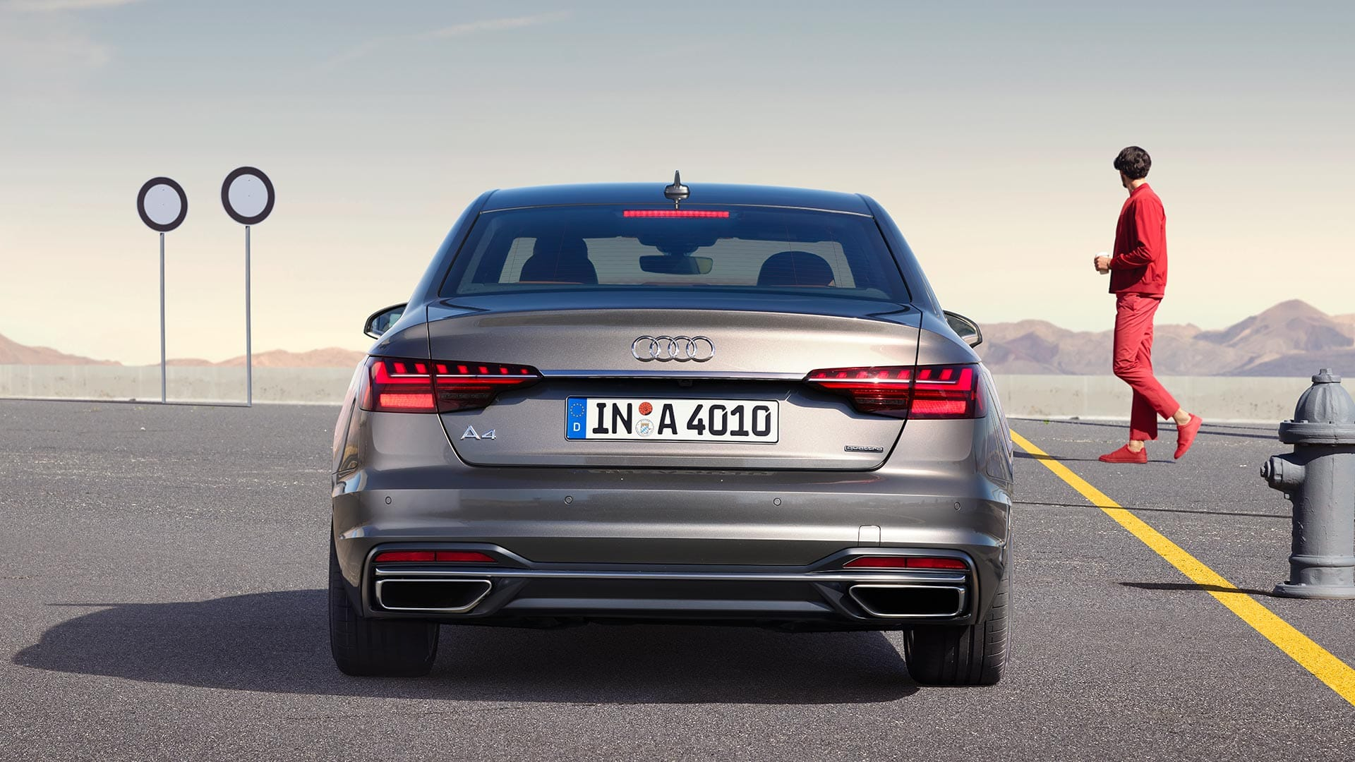 Rear Audi A4 Saloon